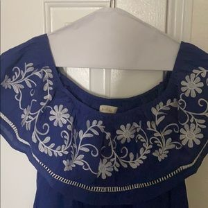 CLEARANCE: Off the shoulder embroidered dress